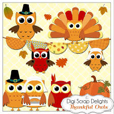 thanksgiving owls pilgrims indians turkey clip for