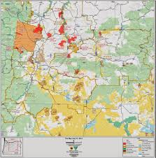 a map of oregon wildfires central or info central oregon area map of fires 7 21