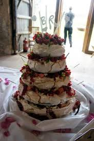 classic pavlova with fresh cherries and syrup what a show stopper