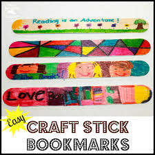 mom to 2 posh lil divas easy craft stick bookmark craft for kids