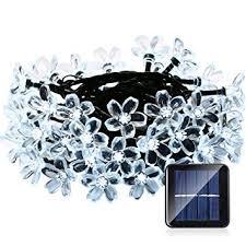 qedertek solar string lights qedertek solar christmas string lights 21ft 50 led fairy blossom