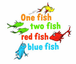amazon com graphique home decal dr seuss one fish two fish