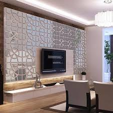 Decorative Home Amazon Com Alrens Tm 48pcs Set Geometric Art Mirror Effect 3d