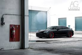 red porsche black wheels ag luxury wheels porsche panamera forged wheels