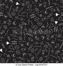 vector clip art of schematic symbols in electrical engineering