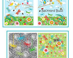 Backyard Baby Fabric by Backyard Buzz Bugs Insects Fabric Book Panel Make A Soft Book