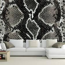 the custom 3d murals snake skin reptile paper papel de parede
