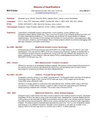 Resumes Examples Examples Of Resumes Resume Amazing Qualifications For Example