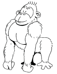 coloring page of gorilla coloring page gorilla free printable gorilla coloring pages animals