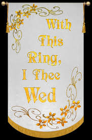 with this ring i thee wed with this ring i thee wed wedding banner christian banners for