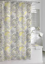 Grey And Yellow Bathroom by Amazon Com Kassatex Paisley Shower Curtain Yellow Grey 72 By