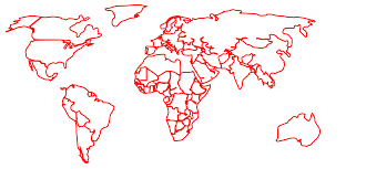 outline of world map black outline world map no background clip at clker