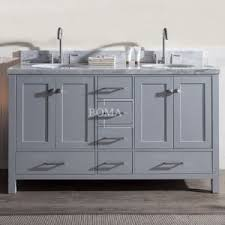 Shaker Style Vanity Bathroom Wholesale 60 Inch Contemporary Basin Drawers Cabinets Pure White