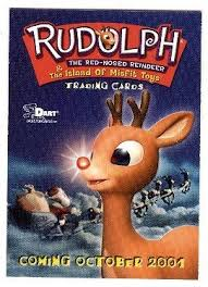 2001 dart promo promotional card rudolph the nosed reindeer