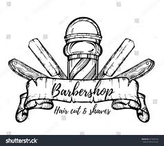 hand drawn barbershop vintage illustration hair stock vector
