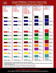 lanyard webbings pms color pantone matching system color