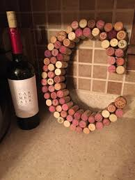 a wine cork letter that i made for my sister wine corks