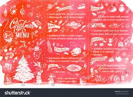 christmas menu template sketch food drinks stock vector 523592284