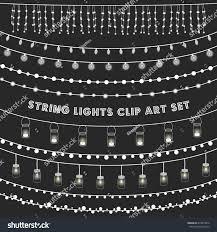 Apple String Lights by Chalkboard String Lights Set Set Glowing Stock Vector 414879976