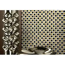 black glass tiles for kitchen backsplashes tst glass tiles black and golden grids kitchen bath