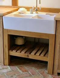 Free Standing Sink Kitchen Freestanding Kitchen Oak Sink Unit Jídelna Kuchyn