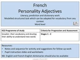 ks2 french adjectives bundle by languagesinprimaries teaching