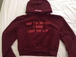 may the bridges i burn light the way vetements vetements may the bridges i burn light the way football shoulder