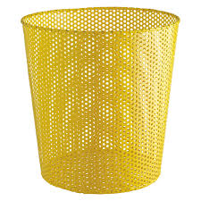 Buy Desk Accessories by Macula Yellow Mesh Wastepaper Bin Home 2016 Pinterest Letter
