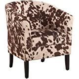 Faux Cowhide Chair Amazon Com Cowhide Chair Armless Accent Chair Imitation Cow Hide
