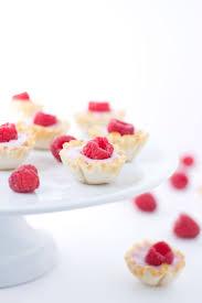 mini raspberry yogurt phyllo cups recipe phyllo cups yogurt