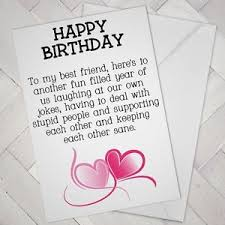 birthday cards for friends best friend birthday card friends mate girl support