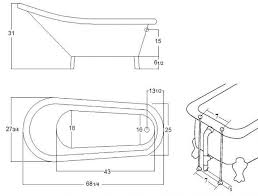 Standard Length Of Bathtub Standard Tub Size Decor References