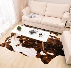 tappeto di mucca imitazione giallo tappeto in pelle di mucca animale tappetino