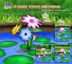 3d flowers touch wallpaper android apps on google play