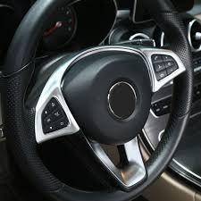 buy mercedes accessories aliexpress com buy chrome steering wheel button trim car