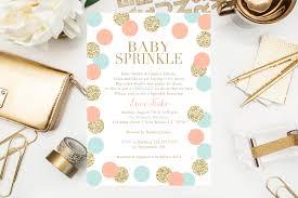 baby sprinkle invitations gold glitter baby shower gender