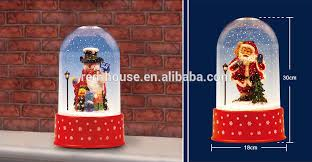 Electric Reindeer Christmas Decorations by 30cm Tall Tabletop Snow Globe With Electric Reindeer Buy Snow