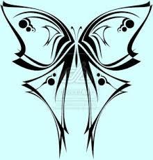 corner tattoos cool butterfly tribal design