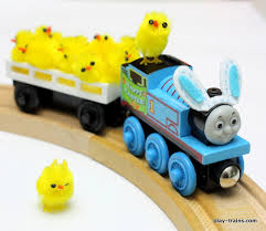 easter train freight easy bunny ears wooden trains