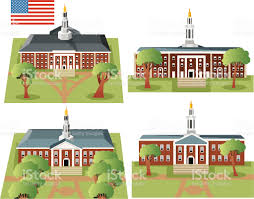 Dartmouth Campus Map Harvard University Royalty Free Stock Vector Art Uni Campus Map
