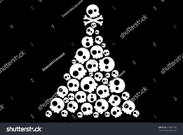 skulls christmas tree stock vector 213861106 shutterstock