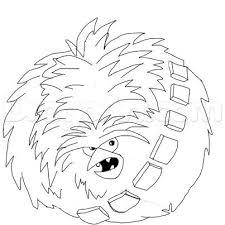 draw angry bird chewbacca step step star wars