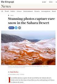 Snow In Sahara Washington Post Record Arctic Fraud Continues Unabated The