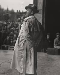 images about USO on Pinterest Bing Crosby on the stage at Station      Bassingbourn  England  during the USO