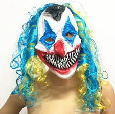 Joker Halloween Costume Kids Scary Clown Mask Joker Kids Face Horror Funny Mask