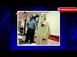 Klux Klan Halloween Costume Student Wears Kkk Robe History Lesson