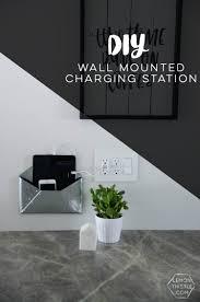 diy wall mounted charging station lemon thistle