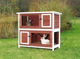 Outdoor Rabbit Hutch Plans Amazon Com Trixie Pet Products 2 Story Rabbit Hutch Medium