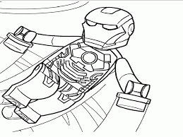 lego iron man 3 coloring printable sheet lego pages