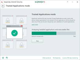 how to use the trusted applications mode in kaspersky internet